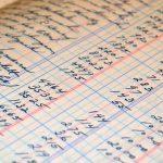 Libro de contabilidad de una empresa de hostelería